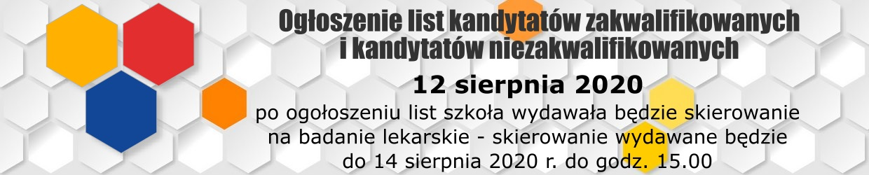 Terminarze - Rekrutacja 2020/2021